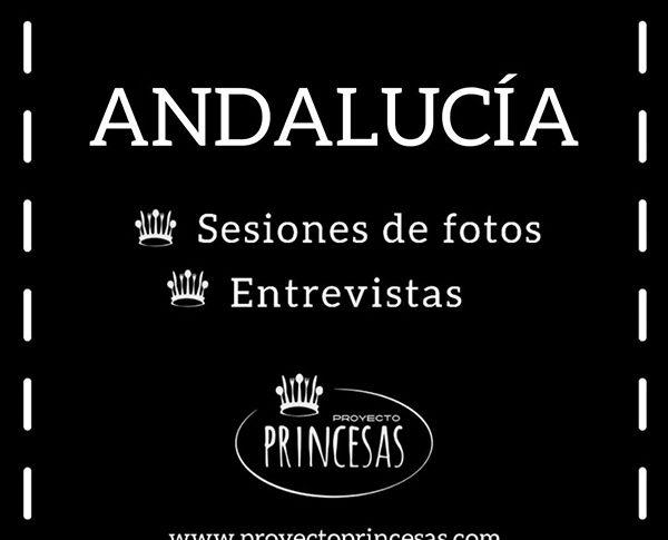 Proyecto Princesas estará en Andalucía para realizar sesiones de fotos y entrevistas